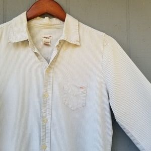 Abercrombie Vertical Striped Button Down Top Large